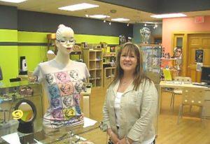 Owner Paula Hornbeck inside her store Eyecandy in Delafield